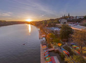 @markalanandre - Sunset over the Potomac River and Key Bridge Boathouse in Georgetown