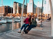 @oceanicoconuts - Friends on swing at The Wharf - Fall in Washington, DC