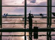 Airline passenger at Ronald Reagan Washington National Airport - Airports in the Washington, DC region