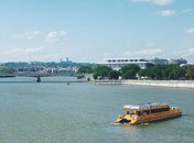 @snapsbyeduardo - Potomac Riverboat water taxi on the Potomac River near the Kennedy Center and Georgetown