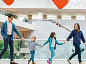 Free museum experiences in Washington, DC - Family at the National Gallery of Art East Building on the National Mall