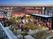 Top of the Yard rooftop bar next to Nationals Park - Rooftop bar in DC's Capitol Riverfront neighborhood