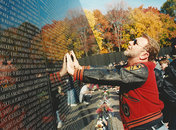Vietnam Veterans Memorial on Veterans Day - Washington, DC