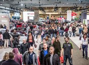 Crowd at Washington Auto Show - Winter event in Washington, DC