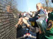 The Vietnam Veterans Memorial on the National Mall during Veterans Day - Ways to pay tribute to veterans in Washington, DC