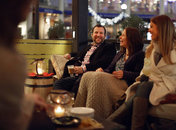 Farmers Fishers Bakers Winter Lounge Outdoor Dining with Fireplace in Georgetown - Cozy Restaurants with Fireplaces in Washington, DC