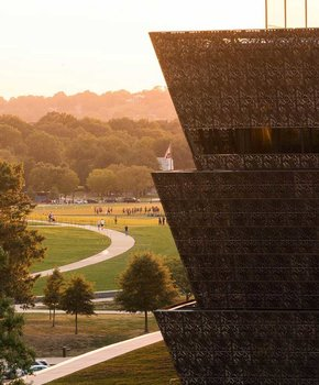 @abpanphoto - Early autumn scene on the National Mall - View of Smithsonian National Museum of African American History and Culture