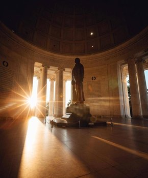 @dccityguy - Sunrise at the Jefferson Memorial on the National Mall in Washington, DC