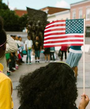 Children at African American Civil War Memorial and Museum - Museum and Memorial in Washington, DC
