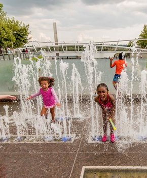 Children playing in Yards Park on the Capitol Riverfront - Things to do on the water in Washington, DC