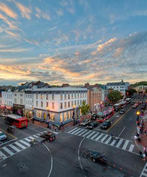 Georgetown Neighborhood in Washington DC