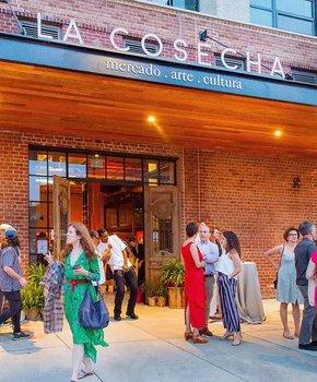 Main entrance to La Cosecha Latin American marketplace and food hall near Union Market in Washington, DC