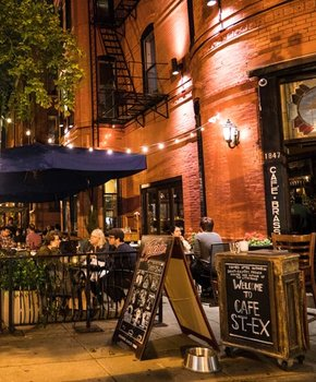Patio Dining at Cafe Saint-Ex on 14th Street - Restaurants in Washington, DC
