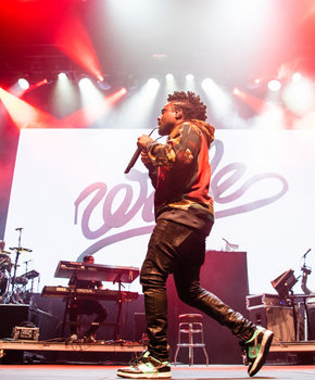 Wale performing at the Entertainment and Sports Arena - Music and sports venue in Washington, DC