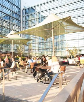 Outdoor patio at The Wharf on the Southwest Waterfront - Attractions in Washington, DC