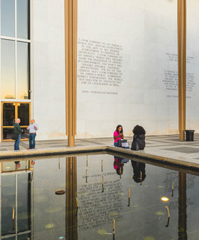 Exterior of the John F. Kennedy Center for the Performing Arts - Theater in Washington, DC
