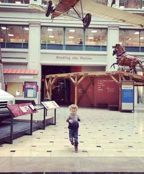 @preparingforpeanut - Child in Smithsonian National Postal Museum - Museum off the Mall in Washington, DC