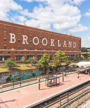 Brookland Metro Station and ArtsWalk - Brookland Neighborhood in Washington, DC