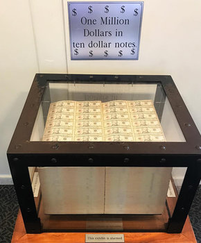 @sukichw - One million dollars in bills at the U.S. Bureau of Printing and Engraving - Free things to do in Washington, DC