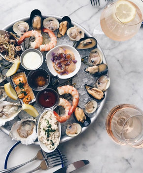 @thedcdarlings - Seafood platter at Whaley's on the Capitol Riverfront - Waterfront seafood restaurant in Washington, DC