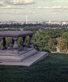 View of Washington, DC Skyline from Arlington National Cemetery in Virginia