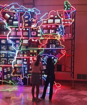 Viewing Electronic Superhighway at the Smithsonian American Art Museum - Free Museum in Washington, DC