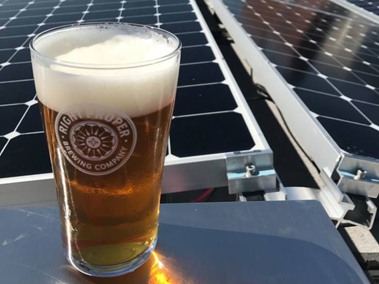 Right Proper Brewing Company solar panels - Sustainable event and meeting spaces in Washington, DC