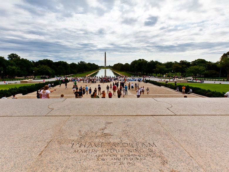 """Where Martin Luther King, Jr. Delivered His """"I Have a Dream"""" Speech on the Lincoln Memorial Steps - National Mall - Washington, DC"""