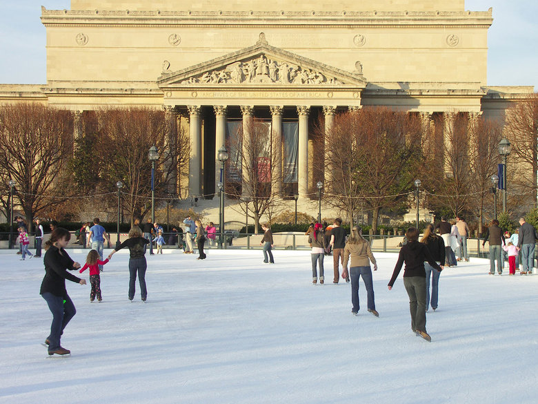 National Gallery of Art Ice Rink in the Sculpture Garden - Winter in Washington, DC