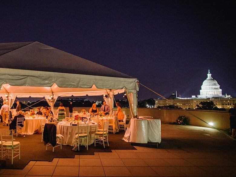 Rooftop private dining at Charlie Palmer Steak on Capitol Hill - Unique outdoor event and meeting venues in Washington, DC