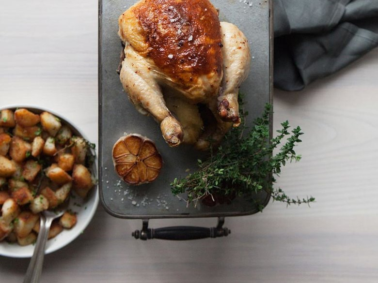 Roast Chicken en Panade at Kinship - Michelin Starred Restaurant in Washington, DC