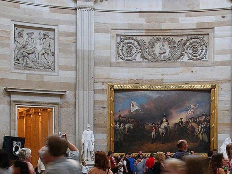 Tour Groups in U.S. Capitol Rotunda - Washington, DC