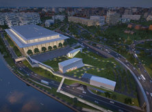 Aerial rendering of The REACH at the John F. Kennedy Center for the Performing Arts in Washington, DC