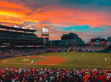 @amgarciaindc - Sunset at Nationals Park during Nationals baseball game - Sports in Washington, DC