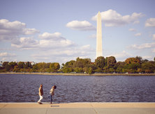 Couple at the Tidal Basin - Fall in Washington, DC