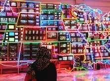 @falihazikra - Electronic Superhighway Art Installation at Smithsonian American Art Museum - Free Museum Off the National Mall in Washington, DC