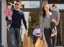 Family shopping in Georgetown - Washington, DC