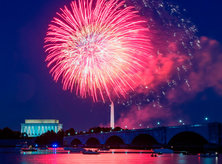 Fireworks Going Off Over Washington, DC