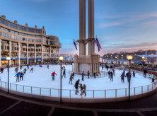 Ice Skating on Georgetown Waterfront - Washington Harbour - Washington, DC