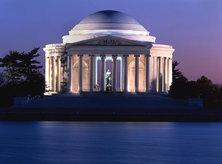 Jefferson Memorial Lit Up at Night
