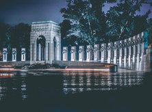 @joshmartinphoto - Evening at the National World War II Memorial - Monuments and memorials in Washington, DC
