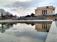 @maria.made.moments - Lincoln Memorial and Reflecting Pool in Winter