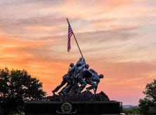 @michaeldphotos - sunset at Marine Corps Memorial