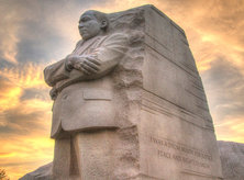 Martin Luther King, Jr. Memorial at Sunset - Washington, DC