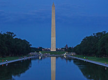 National Mall Washington Monument at night