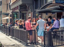 Outdoor Patio of the Pearl Dive on 14th Street in DC