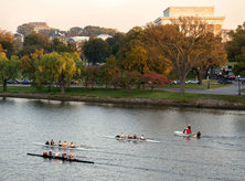 Rowers on the Potomac River - Fall in Washington, DC