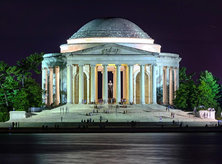@roy_howell4 - Nighttime at the Jefferson Memorial - Monuments and Memorials in Washington, DC