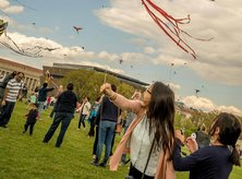 @rubesaint - Flying kites on the National Mall