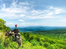 Hiker in Shenandoah Park in Virginia - Day Trip Adventures from Washington, DC